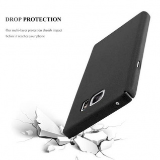 Cadorabo Hülle für Samsung Galaxy NOTE 5 in FROSTY SCHWARZ - Hardcase Handyhülle aus Plastik gegen Kratzer und Stöße - Schutzhülle Bumper Ultra Slim Back Case Hard Cover - Vorschau 4