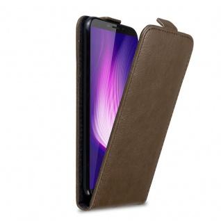 Cadorabo Hülle für Cubot Nova in KAFFEE BRAUN Handyhülle im Flip Design mit Magnetverschluss Case Cover Schutzhülle Etui Tasche Book Klapp Style