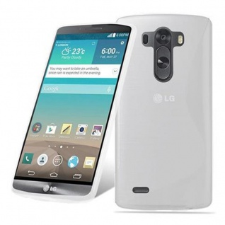 Cadorabo Hülle für LG G3 STYLUS in HALB TRANSPARENT ? Handyhülle aus flexiblem TPU Silikon ? Silikonhülle Schutzhülle Ultra Slim Soft Back Cover Case Bumper