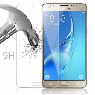 Cadorabo Panzer Folie für Samsung Galaxy J5 - Schutzfolie in KRISTALL KLAR - Gehärtetes (Tempered) Display-Schutzglas in 9H Härte mit 3D Touch Kompatibilität - Vorschau 3