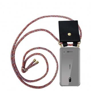 Cadorabo Handy Kette für Nokia 2.2 in COLORFUL PARROT Silikon Necklace Umhänge Hülle mit Gold Ringen, Kordel Band Schnur und abnehmbarem Etui Schutzhülle