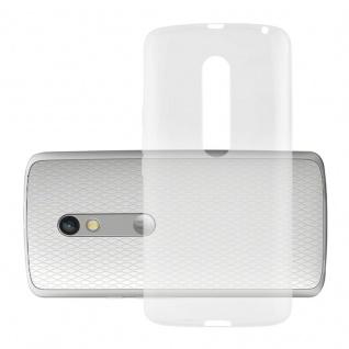 Cadorabo Hülle für Motorola MOTO G3 in VOLL TRANSPARENT - Handyhülle aus flexiblem TPU Silikon - Silikonhülle Schutzhülle Ultra Slim Soft Back Cover Case Bumper