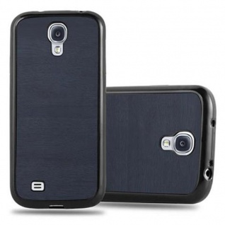 Cadorabo Hülle für Samsung Galaxy S4 in WOODEN BLAU ? Handyhülle aus flexiblem TPU Silikon ? Silikonhülle Schutzhülle Ultra Slim Soft Back Cover Case Bumper