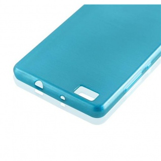Cadorabo Hülle für Huawei P8 LITE 2015 in TÜRKIS - Handyhülle aus flexiblem TPU Silikon - Silikonhülle Schutzhülle Ultra Slim Soft Back Cover Case Bumper - Vorschau 2