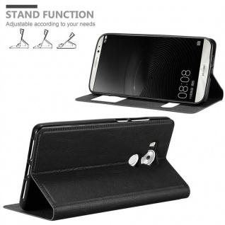 Cadorabo Hülle für Huawei MATE 8 in KOMETEN SCHWARZ - Handyhülle mit Magnetverschluss, Standfunktion und 2 Sichtfenstern - Case Cover Schutzhülle Etui Tasche Book Klapp Style - Vorschau 4