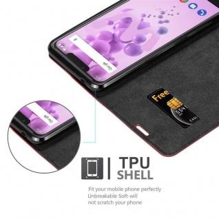 Cadorabo Hülle für WIKO VIEW 2 GO in APFEL ROT - Handyhülle mit Magnetverschluss, Standfunktion und Kartenfach - Case Cover Schutzhülle Etui Tasche Book Klapp Style - Vorschau 2