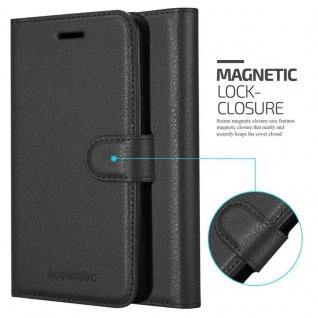 Cadorabo Hülle für Apple iPhone 11 (XI) in PHANTOM SCHWARZ - Handyhülle mit Magnetverschluss, Standfunktion und Kartenfach - Case Cover Schutzhülle Etui Tasche Book Klapp Style - Vorschau 5