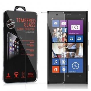 Cadorabo Panzerglas für Nokia Lumia 1020 - Schutzfolie in KRISTALL KLAR ? Gehärtetes (Tempered) Display-Schutzglas in 9H Härte mit 3D Touch Kompatibilität