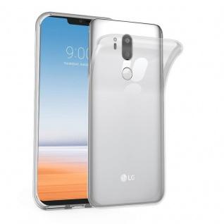 Cadorabo Hülle für LG G7 ThinQ in VOLL TRANSPARENT Handyhülle aus flexiblem TPU Silikon Silikonhülle Schutzhülle Ultra Slim Soft Back Cover Case Bumper