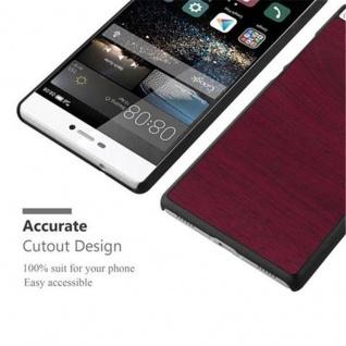 Cadorabo Hülle für Huawei P8 in WOODY ROT ? Hardcase Handyhülle aus Plastik gegen Kratzer und Stöße ? Schutzhülle Bumper Ultra Slim Back Case Hard Cover - Vorschau 4
