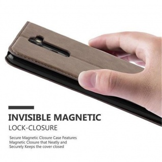 Cadorabo Hülle für LG STYLUS 2 in KAFFEE BRAUN - Handyhülle mit Magnetverschluss, Standfunktion und Kartenfach - Case Cover Schutzhülle Etui Tasche Book Klapp Style - Vorschau 5