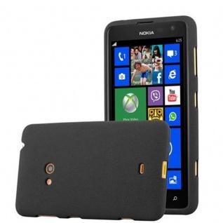 Cadorabo Hülle für Nokia Lumia 625 in FROST SCHWARZ - Handyhülle aus flexiblem TPU Silikon - Silikonhülle Schutzhülle Ultra Slim Soft Back Cover Case Bumper