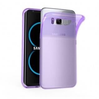 Cadorabo Hülle für Samsung Galaxy S8 in TRANSPARENT LILA - Handyhülle aus flexiblem TPU Silikon - Silikonhülle Schutzhülle Ultra Slim Soft Back Cover Case Bumper