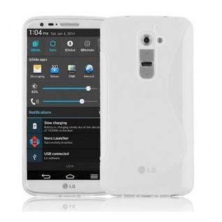 Cadorabo ! PREMIUM - Silikon TPU Schutzhülle im S-Line Design für LG G2 in HALB-TRANSPARENT