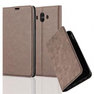 Cadorabo Hülle für Huawei MATE 10 in KAFFEE BRAUN - Handyhülle mit Magnetverschluss, Standfunktion und Kartenfach - Case Cover Schutzhülle Etui Tasche Book Klapp Style