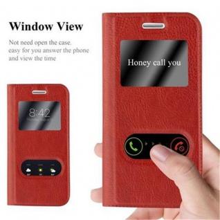Cadorabo Hülle für Samsung Galaxy S3 MINI in SAFRAN ROT ? Handyhülle mit Magnetverschluss, Standfunktion und 2 Sichtfenstern ? Case Cover Schutzhülle Etui Tasche Book Klapp Style - Vorschau 2