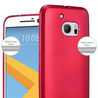 Cadorabo Hülle für HTC 10 (One M10) in METALLIC ROT - Handyhülle aus flexiblem TPU Silikon - Silikonhülle Schutzhülle Ultra Slim Soft Back Cover Case Bumper - Vorschau 4