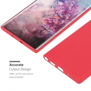 Cadorabo Hülle für Samsung Galaxy NOTE 10 PLUS in CANDY ROT - Handyhülle aus flexiblem TPU Silikon - Silikonhülle Schutzhülle Ultra Slim Soft Back Cover Case Bumper - Vorschau 4