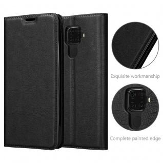 Cadorabo Hülle für Huawei MATE 30 LITE in NACHT SCHWARZ - Handyhülle mit Magnetverschluss, Standfunktion und Kartenfach - Case Cover Schutzhülle Etui Tasche Book Klapp Style - Vorschau 5