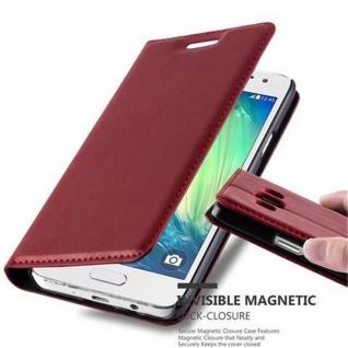 Cadorabo Hülle für Samsung Galaxy A3 2015 in APFEL ROT - Handyhülle mit Magnetverschluss, Standfunktion und Kartenfach - Case Cover Schutzhülle Etui Tasche Book Klapp Style