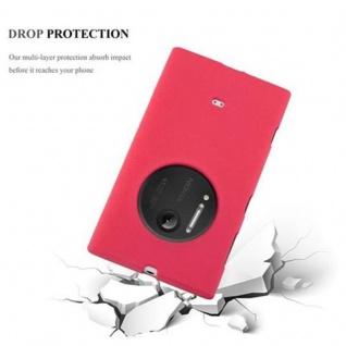 Cadorabo Hülle für Nokia Lumia 1020 in FROST ROT - Handyhülle aus flexiblem TPU Silikon - Silikonhülle Schutzhülle Ultra Slim Soft Back Cover Case Bumper - Vorschau 5