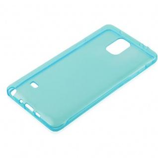 Cadorabo Hülle für Samsung Galaxy NOTE 4 in TRANSPARENT BLAU - Handyhülle aus flexiblem TPU Silikon - Silikonhülle Schutzhülle Ultra Slim Soft Back Cover Case Bumper - Vorschau 2
