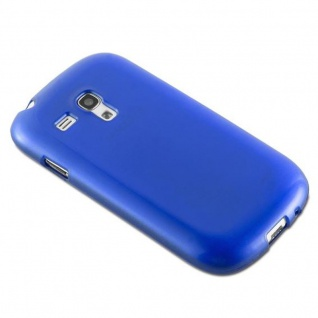 Cadorabo Hülle für Samsung Galaxy S3 MINI in BLAU - Handyhülle aus flexiblem TPU Silikon - Silikonhülle Schutzhülle Ultra Slim Soft Back Cover Case Bumper - Vorschau 3