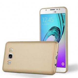 Cadorabo Hülle für Samsung Galaxy J5 2016 in METALLIC GOLD - Handyhülle aus flexiblem TPU Silikon - Silikonhülle Schutzhülle Ultra Slim Soft Back Cover Case Bumper