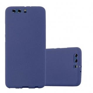 Cadorabo Hülle für Huawei P10 PLUS - Hülle in FROST DUNKEL BLAU ? Handyhülle aus TPU Silikon im matten Frosted Design - Ultra Slim Soft Backcover Case Bumper