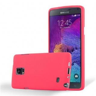 Cadorabo Hülle für Samsung Galaxy NOTE 4 in FROST ROT - Handyhülle aus flexiblem TPU Silikon - Silikonhülle Schutzhülle Ultra Slim Soft Back Cover Case Bumper
