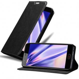 Cadorabo Hülle für ZTE Nubia M2 in NACHT SCHWARZ - Handyhülle mit Magnetverschluss, Standfunktion und Kartenfach - Case Cover Schutzhülle Etui Tasche Book Klapp Style