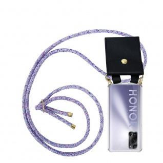 Cadorabo Handy Kette für Honor 30 Pro+ in UNICORN Silikon Necklace Umhänge Hülle mit Gold Ringen, Kordel Band Schnur und abnehmbarem Etui Schutzhülle
