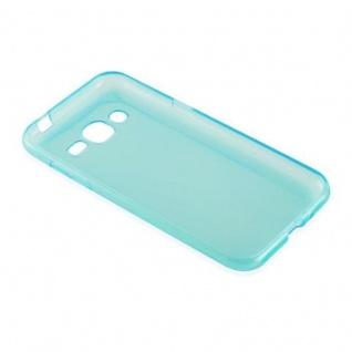 Cadorabo Hülle für Samsung Galaxy J2 2015 in TRANSPARENT BLAU - Handyhülle aus flexiblem TPU Silikon - Silikonhülle Schutzhülle Ultra Slim Soft Back Cover Case Bumper - Vorschau 3