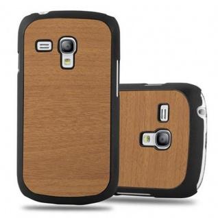 Cadorabo Hülle für Samsung Galaxy S3 MINI in WOODY BRAUN ? Hardcase Handyhülle aus Plastik gegen Kratzer und Stöße ? Schutzhülle Bumper Ultra Slim Back Case Hard Cover