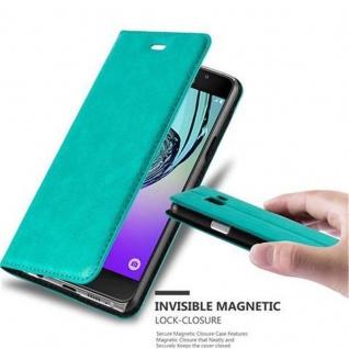 Cadorabo Hülle für Samsung Galaxy A3 2016 in PETROL TÜRKIS - Handyhülle mit Magnetverschluss, Standfunktion und Kartenfach - Case Cover Schutzhülle Etui Tasche Book Klapp Style