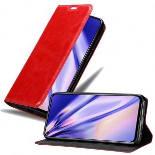 Cadorabo Hülle für Honor View 20 in APFEL ROT Handyhülle mit Magnetverschluss, Standfunktion und Kartenfach Case Cover Schutzhülle Etui Tasche Book Klapp Style