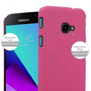 Cadorabo Hülle für Samsung Galaxy XCover 4 in FROSTY PINK - Hardcase Handyhülle aus Plastik gegen Kratzer und Stöße - Schutzhülle Bumper Ultra Slim Back Case Hard Cover - Vorschau 4