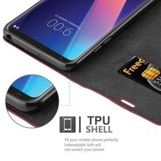 Cadorabo Hülle für LG V30 in APFEL ROT Handyhülle mit Magnetverschluss, Standfunktion und Kartenfach Case Cover Schutzhülle Etui Tasche Book Klapp Style - Vorschau 2
