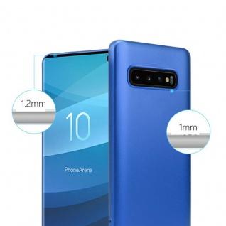 Cadorabo Hülle für Samsung Galaxy S10 in METALLIC BLAU - Handyhülle aus flexiblem TPU Silikon - Silikonhülle Schutzhülle Ultra Slim Soft Back Cover Case Bumper - Vorschau 4