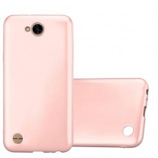 Cadorabo Hülle für LG X Power 2 in METALLIC ROSÉ GOLD - Handyhülle aus flexiblem TPU Silikon - Silikonhülle Schutzhülle Ultra Slim Soft Back Cover Case Bumper