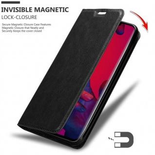 Cadorabo Hülle für Huawei MATE 20 PRO in NACHT SCHWARZ - Handyhülle mit Magnetverschluss, Standfunktion und Kartenfach - Case Cover Schutzhülle Etui Tasche Book Klapp Style - Vorschau 3
