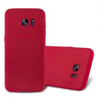 Cadorabo Hülle für Samsung Galaxy S7 EDGE in FROST ROT - Handyhülle aus flexiblem TPU Silikon - Silikonhülle Schutzhülle Ultra Slim Soft Back Cover Case Bumper