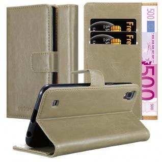 Cadorabo Hülle für LG X Power in CAPPUCCINO BRAUN - Handyhülle mit Magnetverschluss, Standfunktion und Kartenfach - Case Cover Schutzhülle Etui Tasche Book Klapp Style