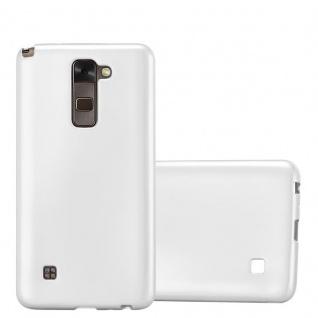 Cadorabo Hülle für LG Stylus 2 in METALLIC SILBER Handyhülle aus flexiblem TPU Silikon Silikonhülle Schutzhülle Ultra Slim Soft Back Cover Case Bumper