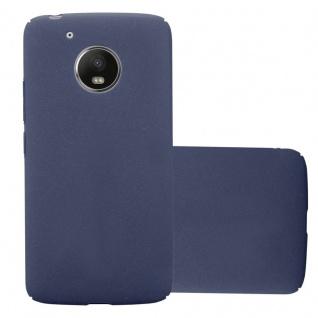 Cadorabo Hülle für Motorola MOTO G5 in FROSTY BLAU - Hardcase Handyhülle aus Plastik gegen Kratzer und Stöße - Schutzhülle Bumper Ultra Slim Back Case Hard Cover