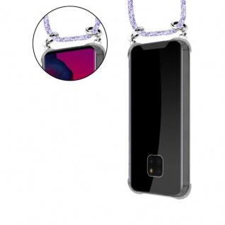 Cadorabo Handy Kette für Huawei MATE 20 PRO in UNICORN - Silikon Necklace Umhänge Hülle mit Silber Ringen, Kordel Band Schnur und abnehmbarem Etui - Schutzhülle - Vorschau 5