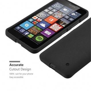 Cadorabo Hülle für Nokia Lumia 640 in FROST SCHWARZ - Handyhülle aus flexiblem TPU Silikon - Silikonhülle Schutzhülle Ultra Slim Soft Back Cover Case Bumper - Vorschau 2