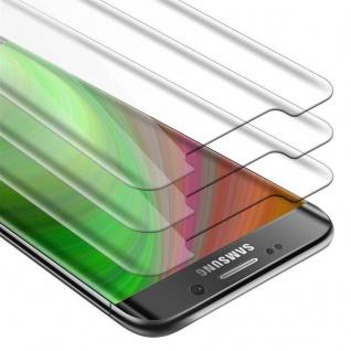 Cadorabo 3x Panzer Folie für Samsung Galaxy S7 EDGE - Schutzfolie in KRISTALL KLAR - 3er Pack Gehärtetes (Tempered) Display-Schutzglas in 9H Härte mit 3D Touch Kompatibilität