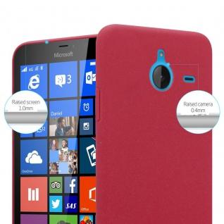 Cadorabo Hülle für Nokia Lumia 640 XL in FROSTY ROT - Hardcase Handyhülle aus Plastik gegen Kratzer und Stöße - Schutzhülle Bumper Ultra Slim Back Case Hard Cover - Vorschau 2