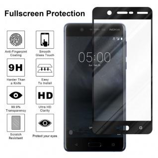 Cadorabo Vollbild Panzer Folie für Nokia 5.1 2018 - Schutzfolie in TRANSPARENT mit SCHWARZ - Gehärtetes (Tempered) Display-Schutzglas in 9H Härte mit 3D Touch Kompatibilität - Vorschau 4